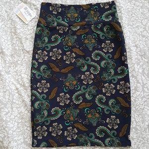 Lularoe New Cassie Pencil Skirt Paisley NWT